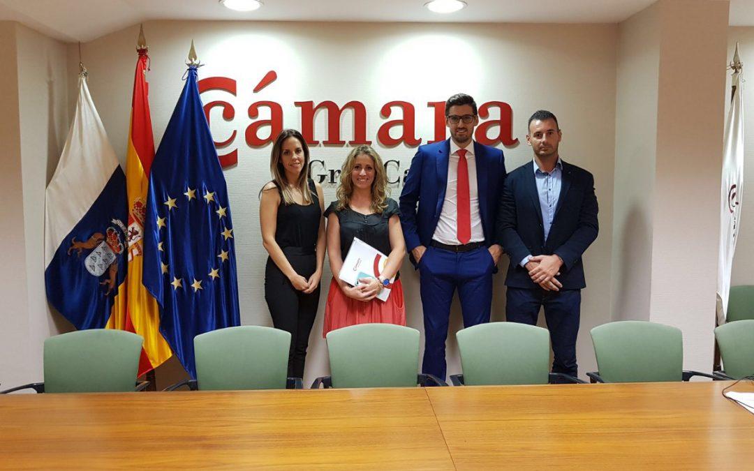 AJE visita la Cámara de Comercio de Gran Canaria