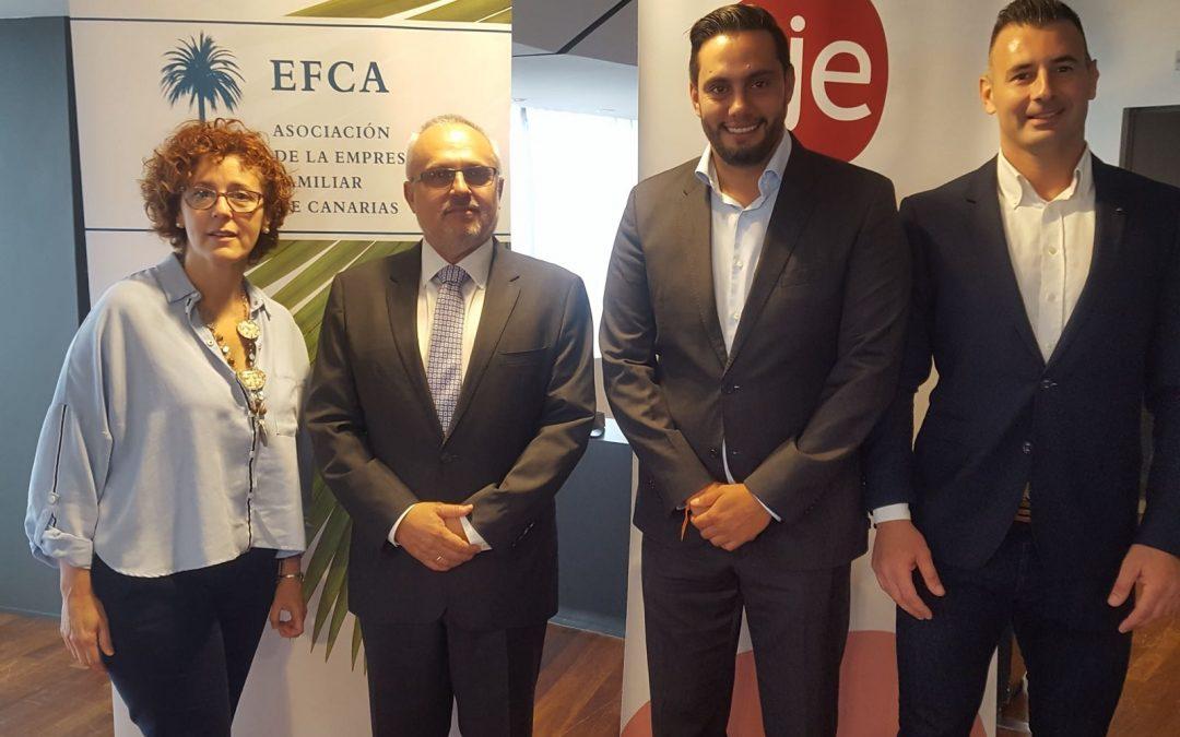 Desayuno de trabajo con José Cristobal García, Secretario General de la Confederación Canaria de Empresarios