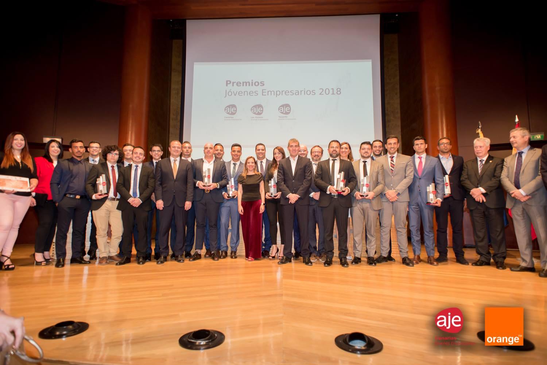 Premios Joven Empresario 2018 en Las Palmas por AJE Canarias