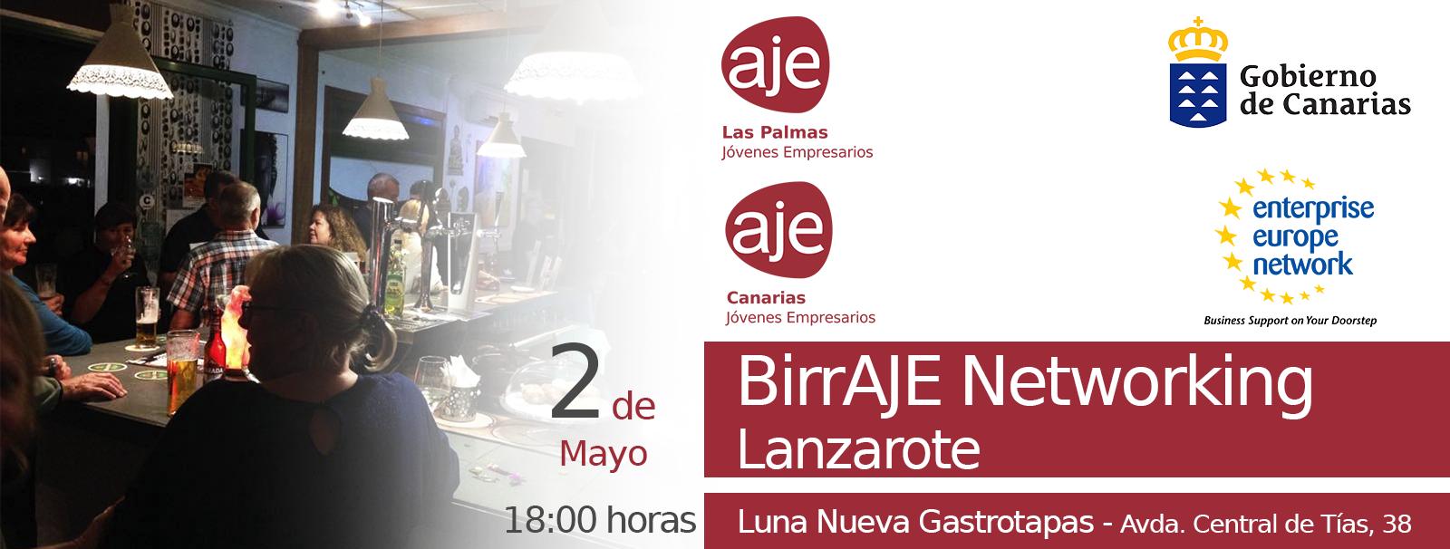 BirrAJE Networking Lanzarote Luna Nueva Gastrotapas 02.05.2019 evento web Asociación de Jóvenes Empresarios Canarias