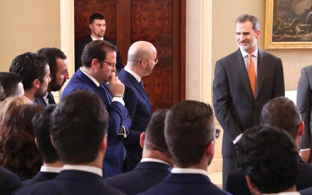 El Rey Felipe VI recibe en audiencia a la nueva directiva de CEAJE